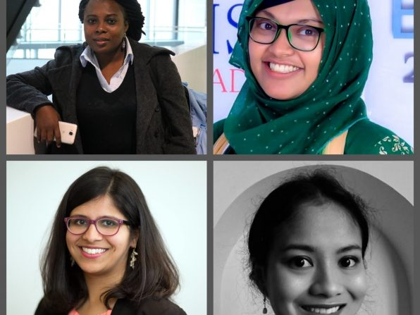 The four inspirational Royal Commonwealth Society women Associate Fellows in Science.