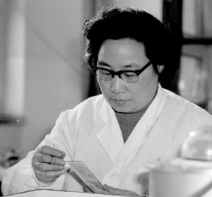 Photo of Tu Yoyou, Chinese scientist who won the 2015 Nobel Prize in Medicine or Physiology.